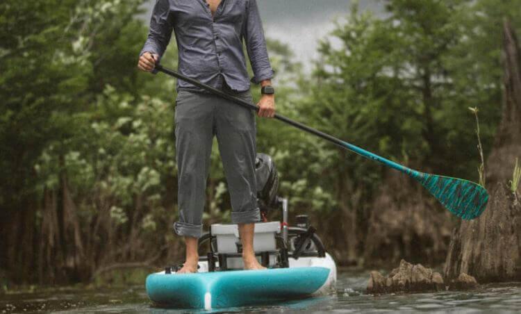 fishing sup in marsh