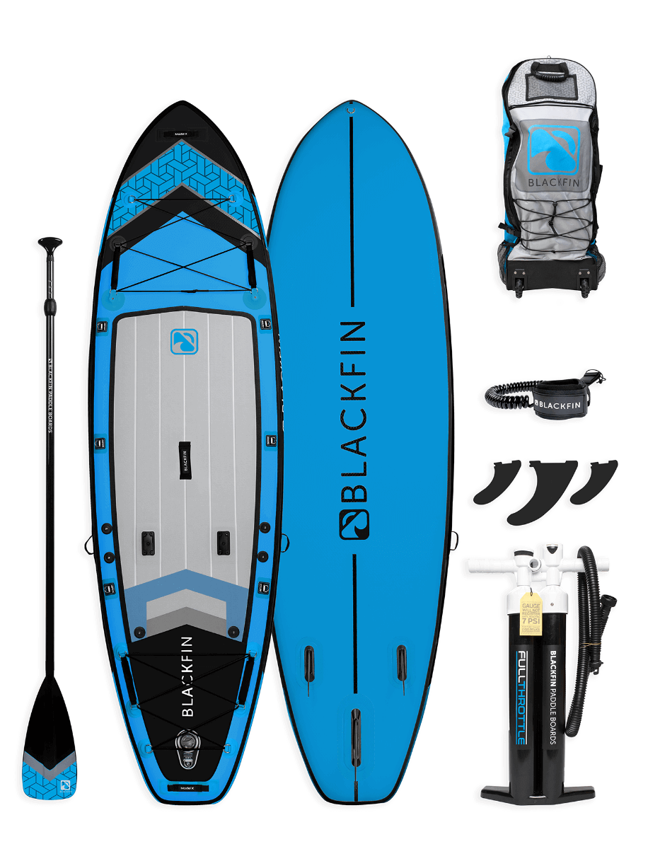 Blackfin iSUP package with paddle and accessories