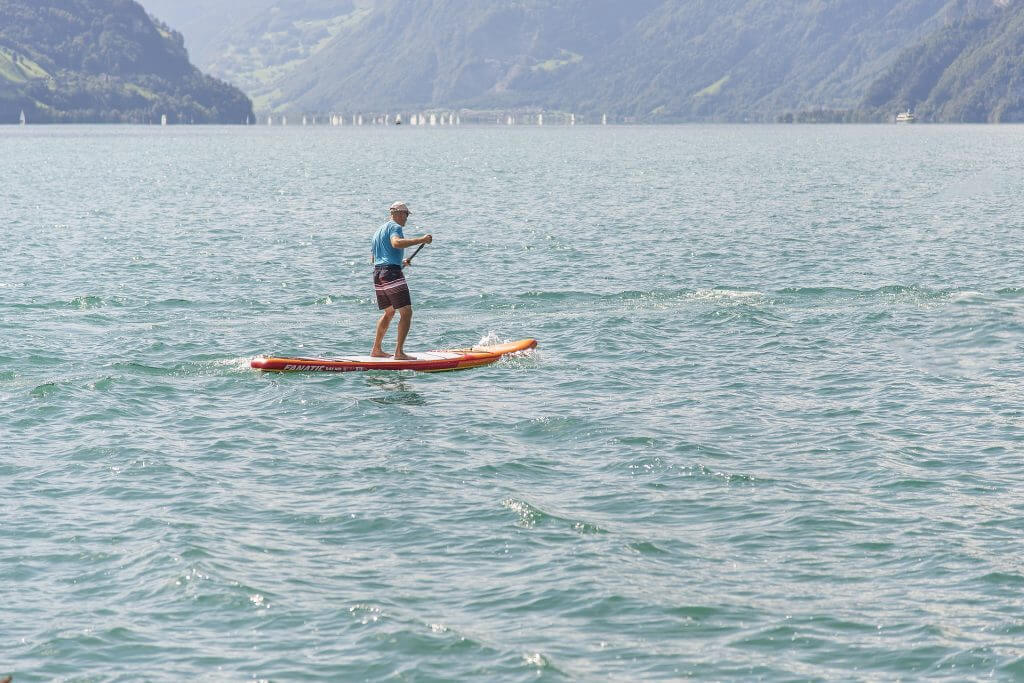 far away from land on a SUP