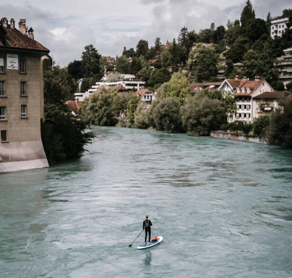 paddler on a river sup