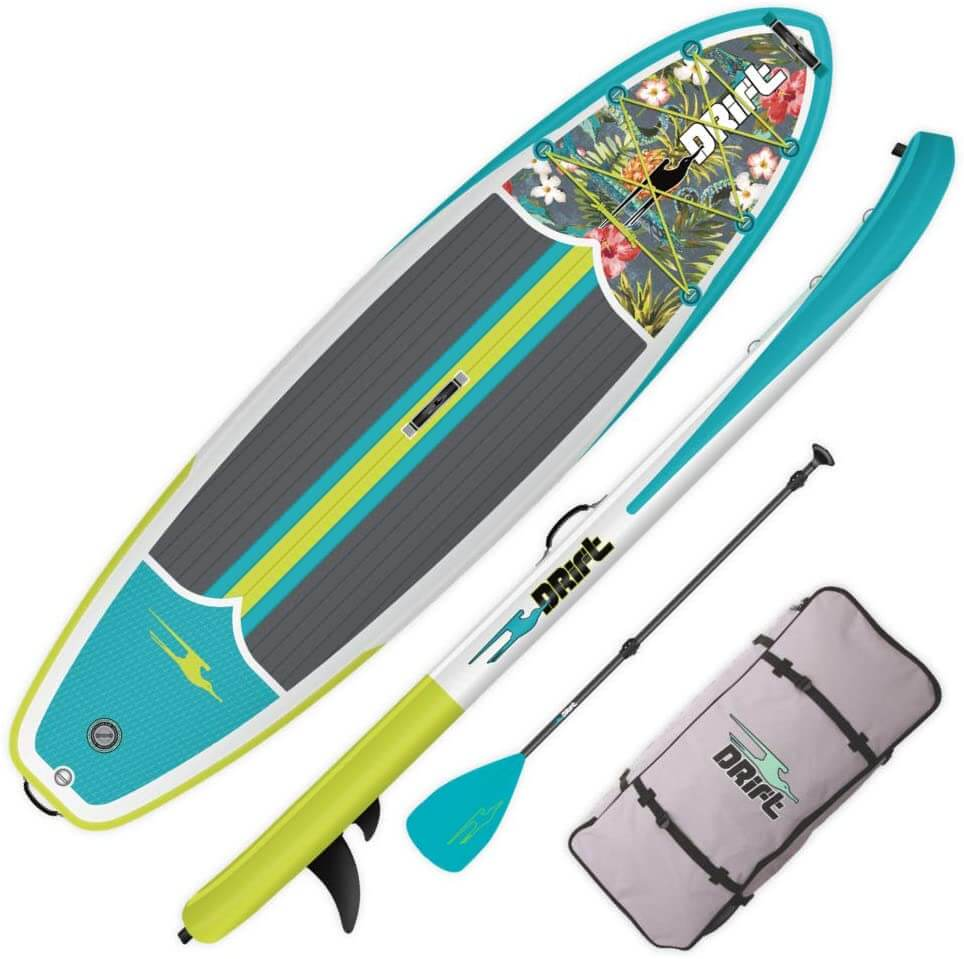 Drift value priced board with paddle and travel bag