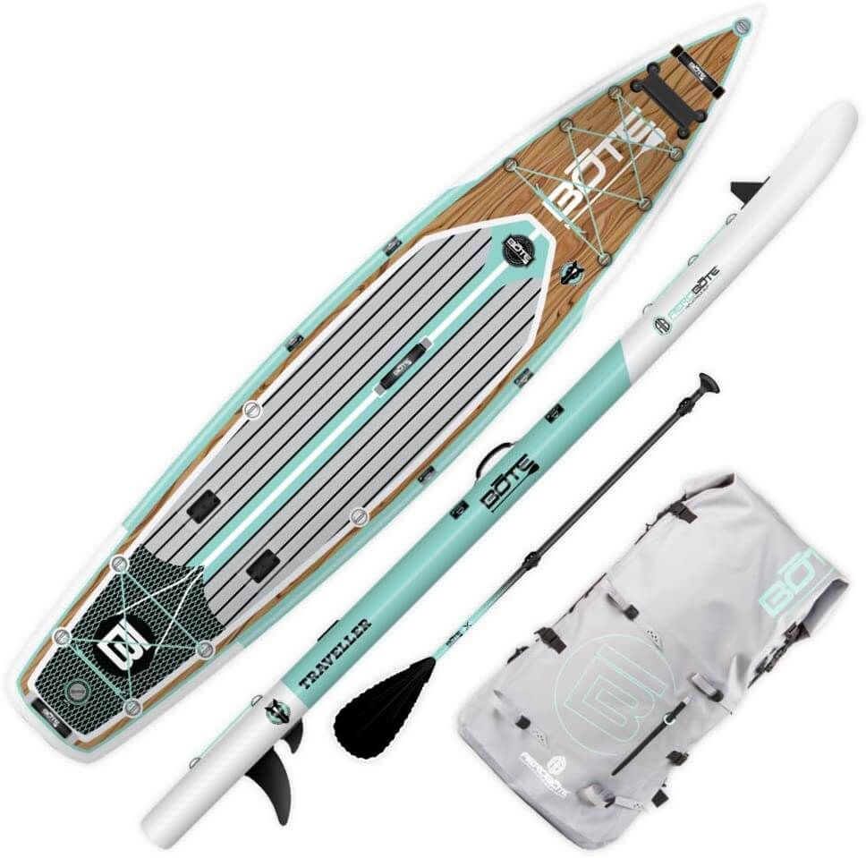 bote traveller aero top and side view with accessories