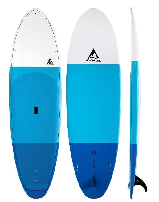 top, bottom, and side view of the adventure paddleboarding sixty forty mx