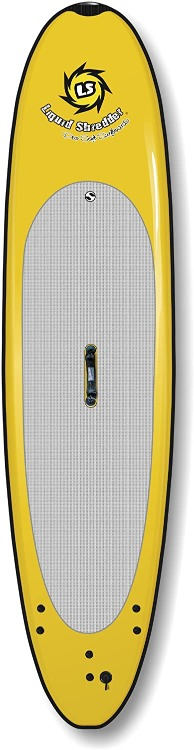 top view of the liquid shredder softboard yellow