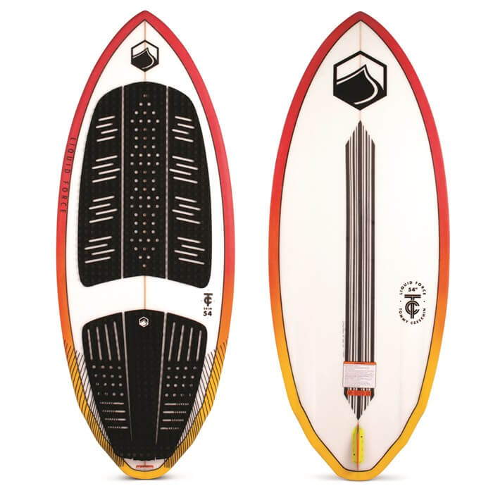 top and bottom view of the liquid force tc skim