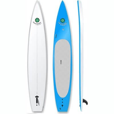 top, bottom, and side view of the liquid shredder race sup