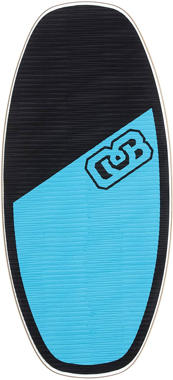 top view of the db standard streamline in blue and black